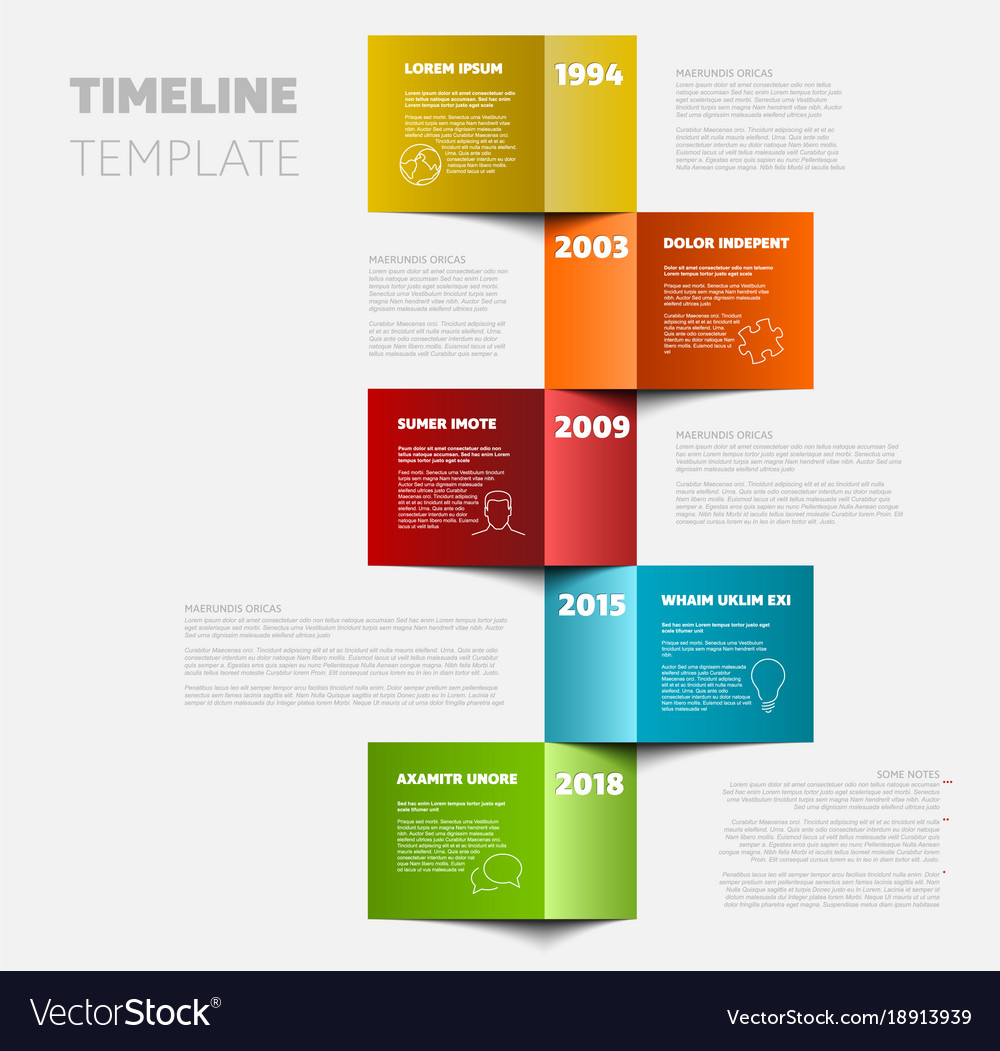 vertical timeline template royalty free vector image