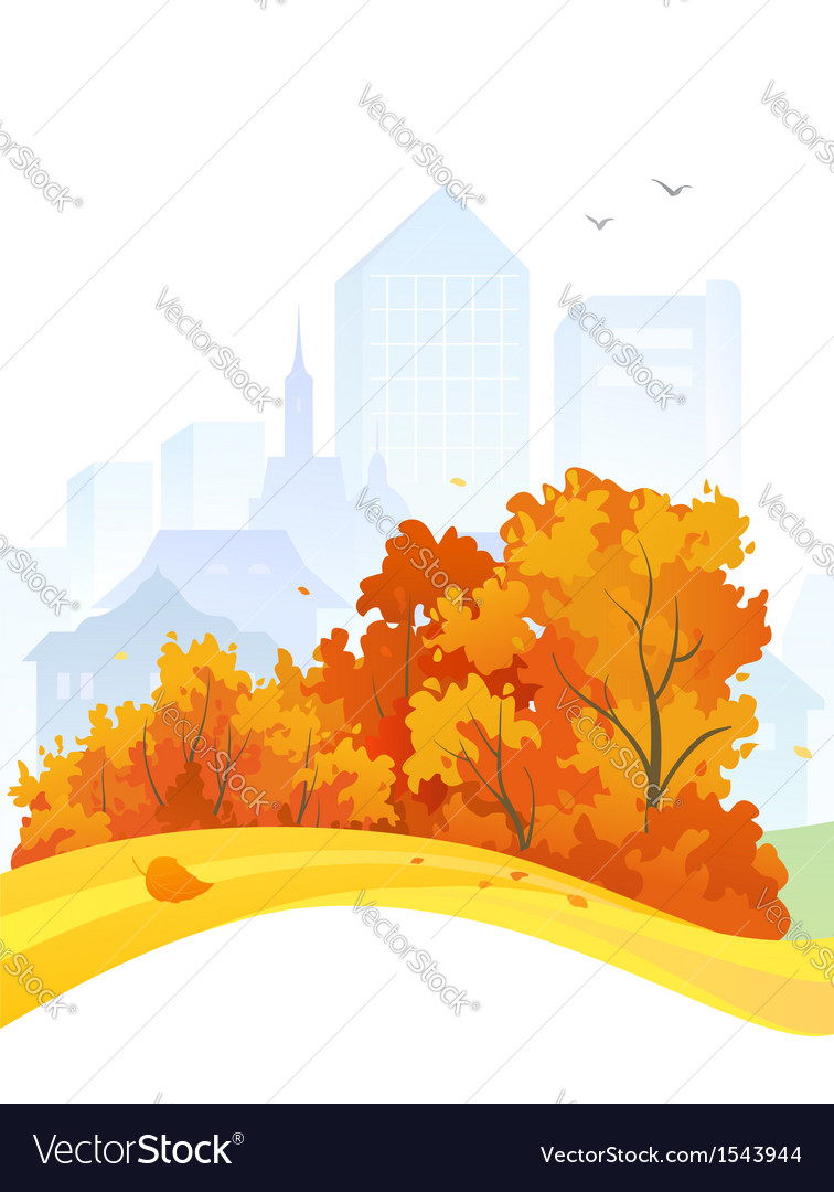 Autumn city design