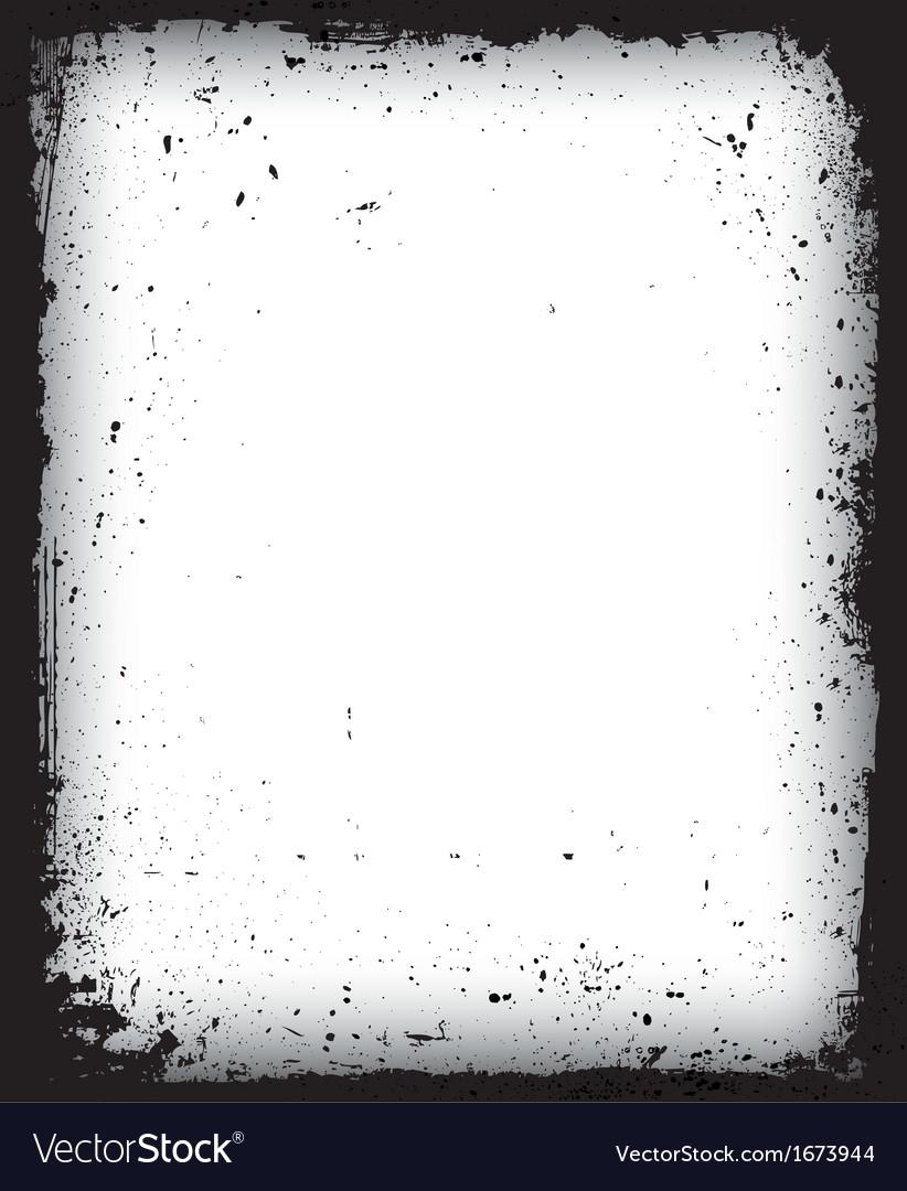 Black grunge frame isolated