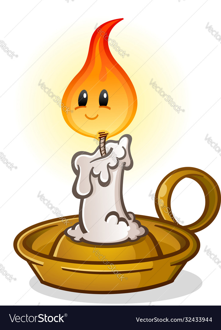Candle stick cartoon character