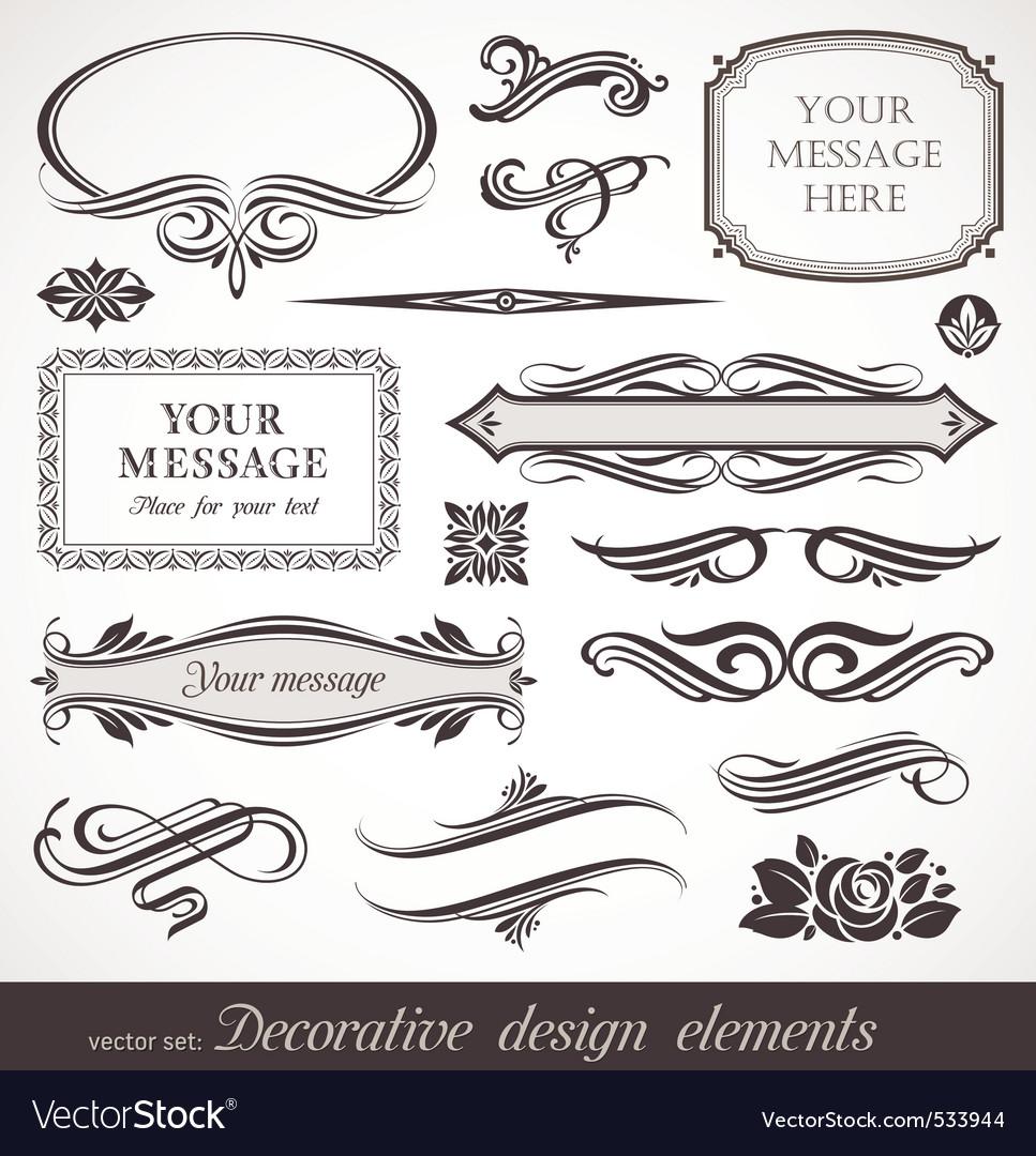 Design elements page decor