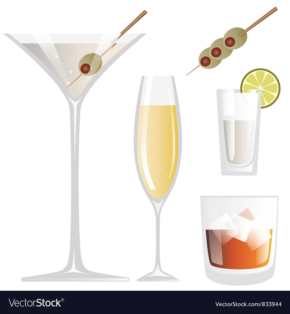 Drink Glass vector image