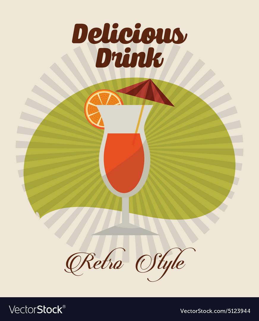 Drink retro label