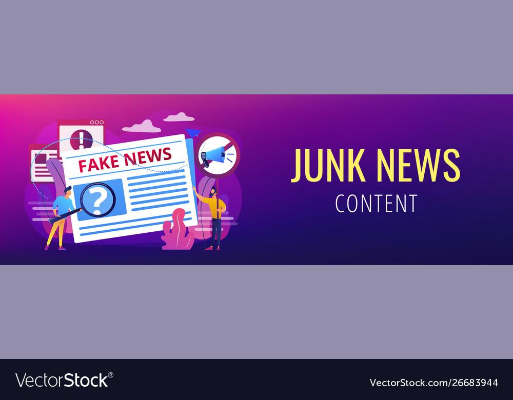 Fake news concept banner header