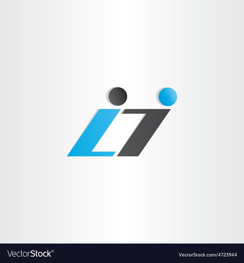 Letter l and i symbol design