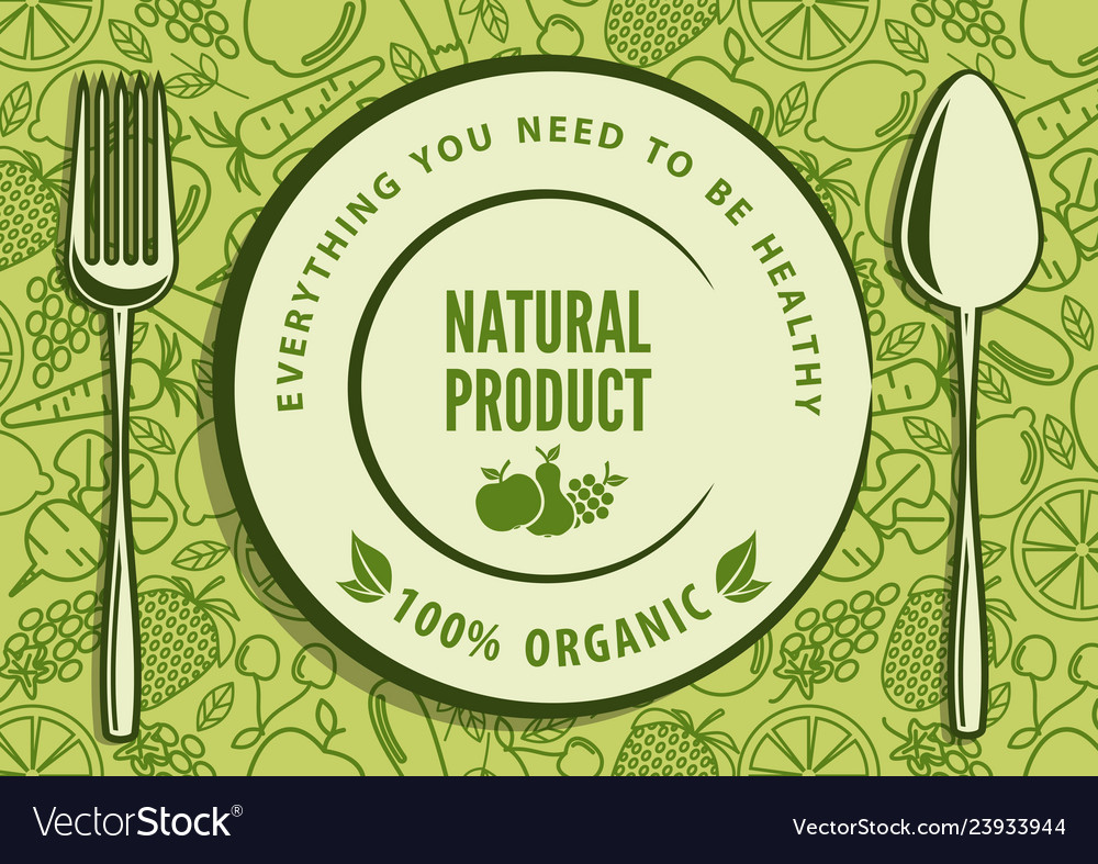 Organic natural food design concept