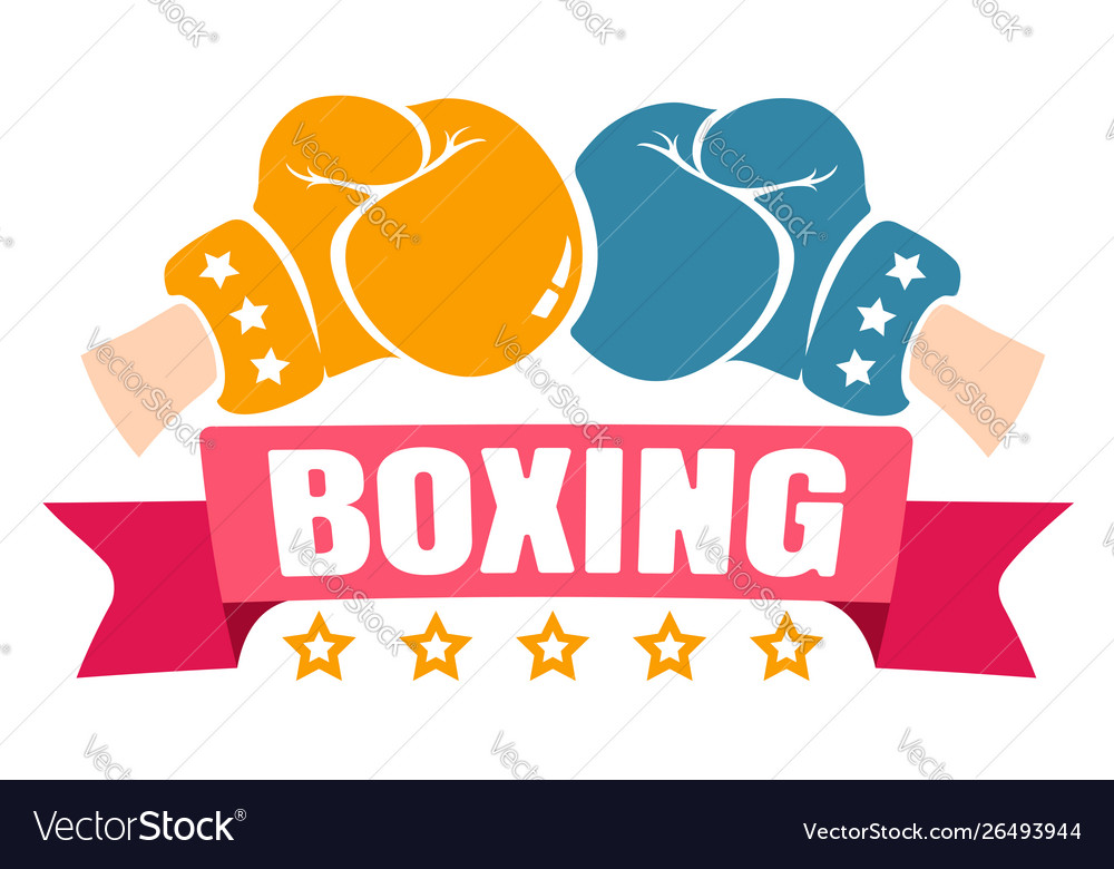 Retro emblem for boxing