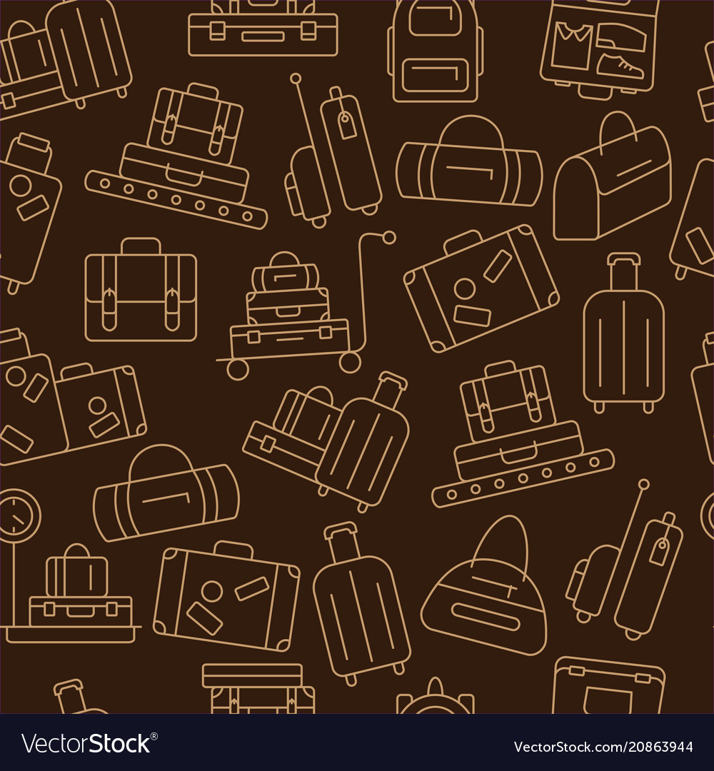 Seamless pattern with luggage
