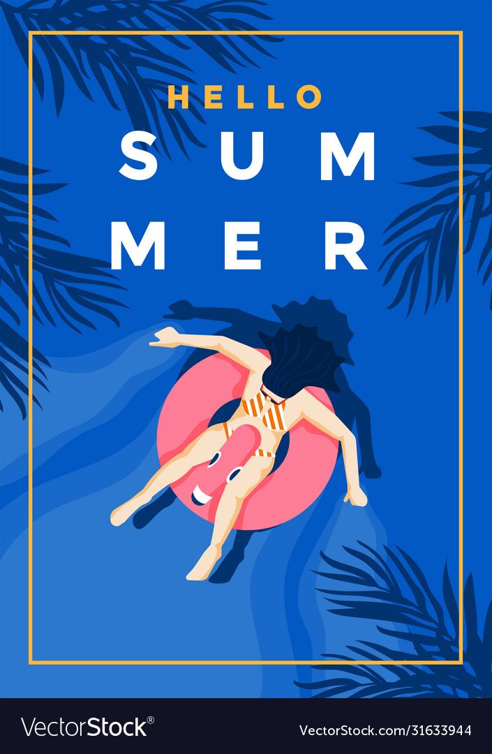 Summer background flat design summer time 5