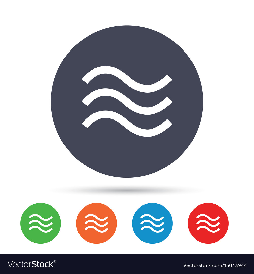 Water waves sign icon flood symbol