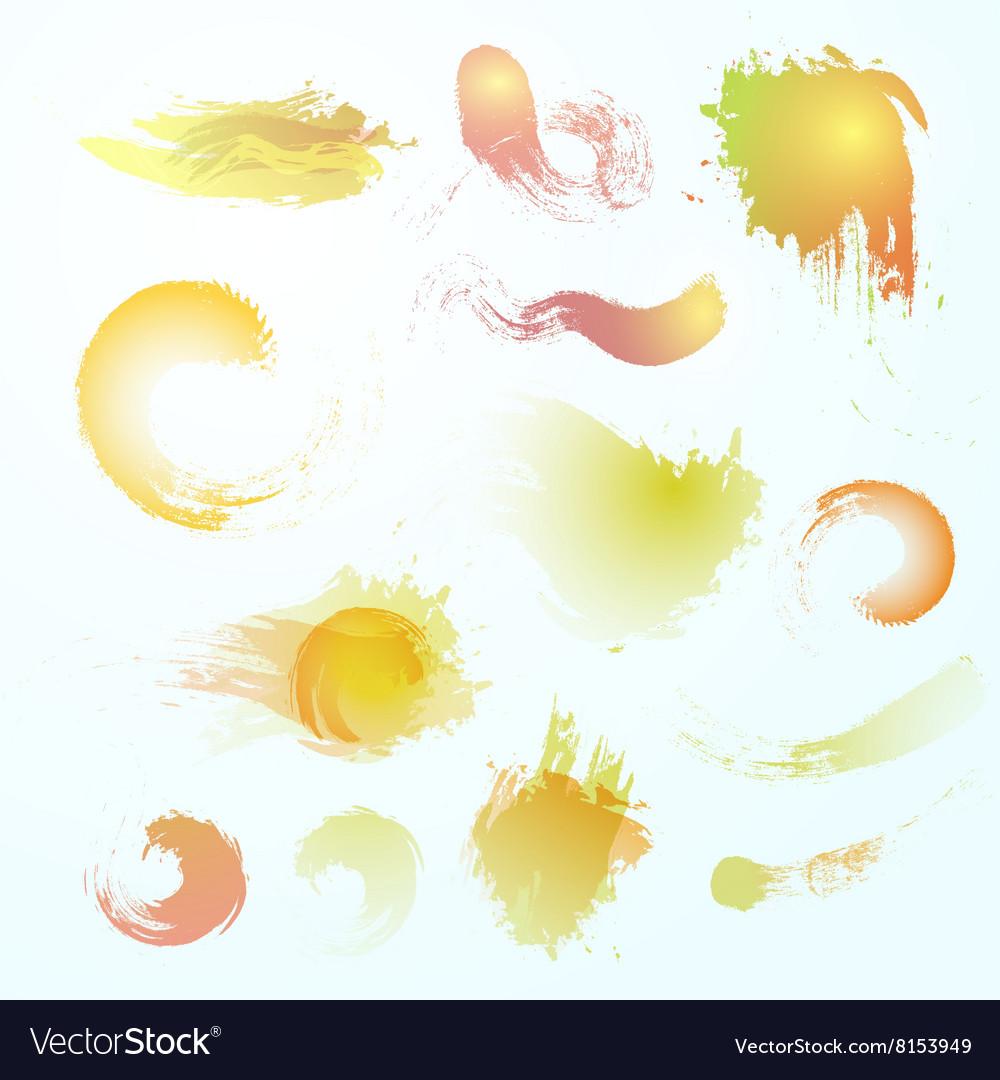 Abstract watercolor blots vector image
