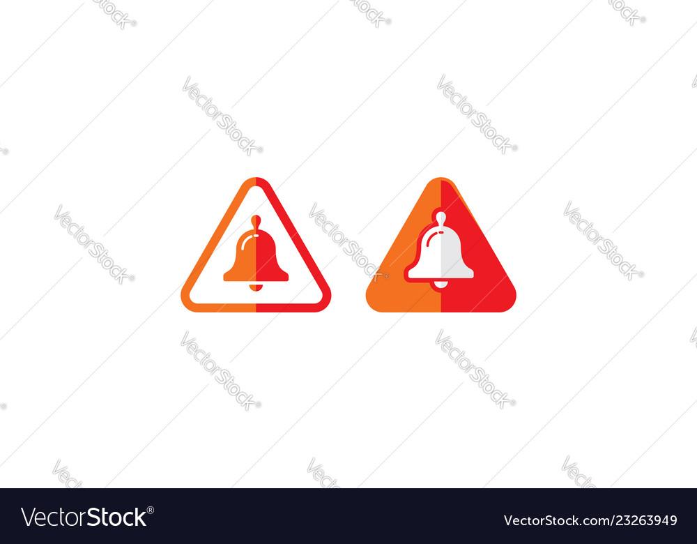 Alarm bell alert logo icon
