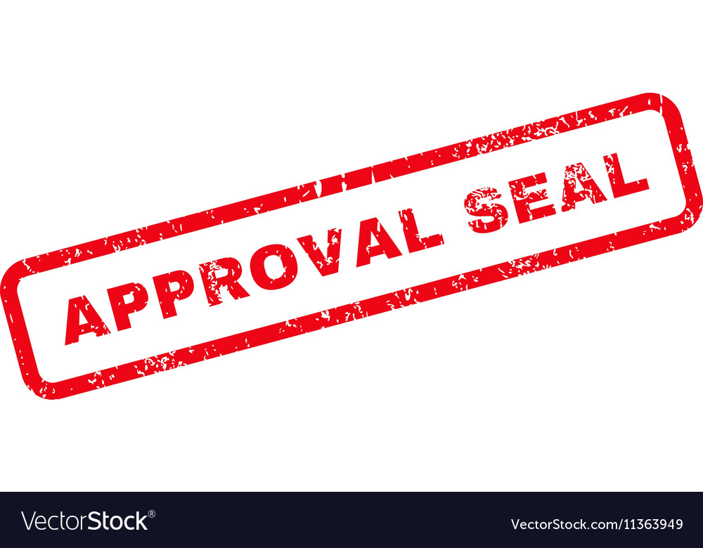 Approval Seal Text Rubber Stamp Vector Image