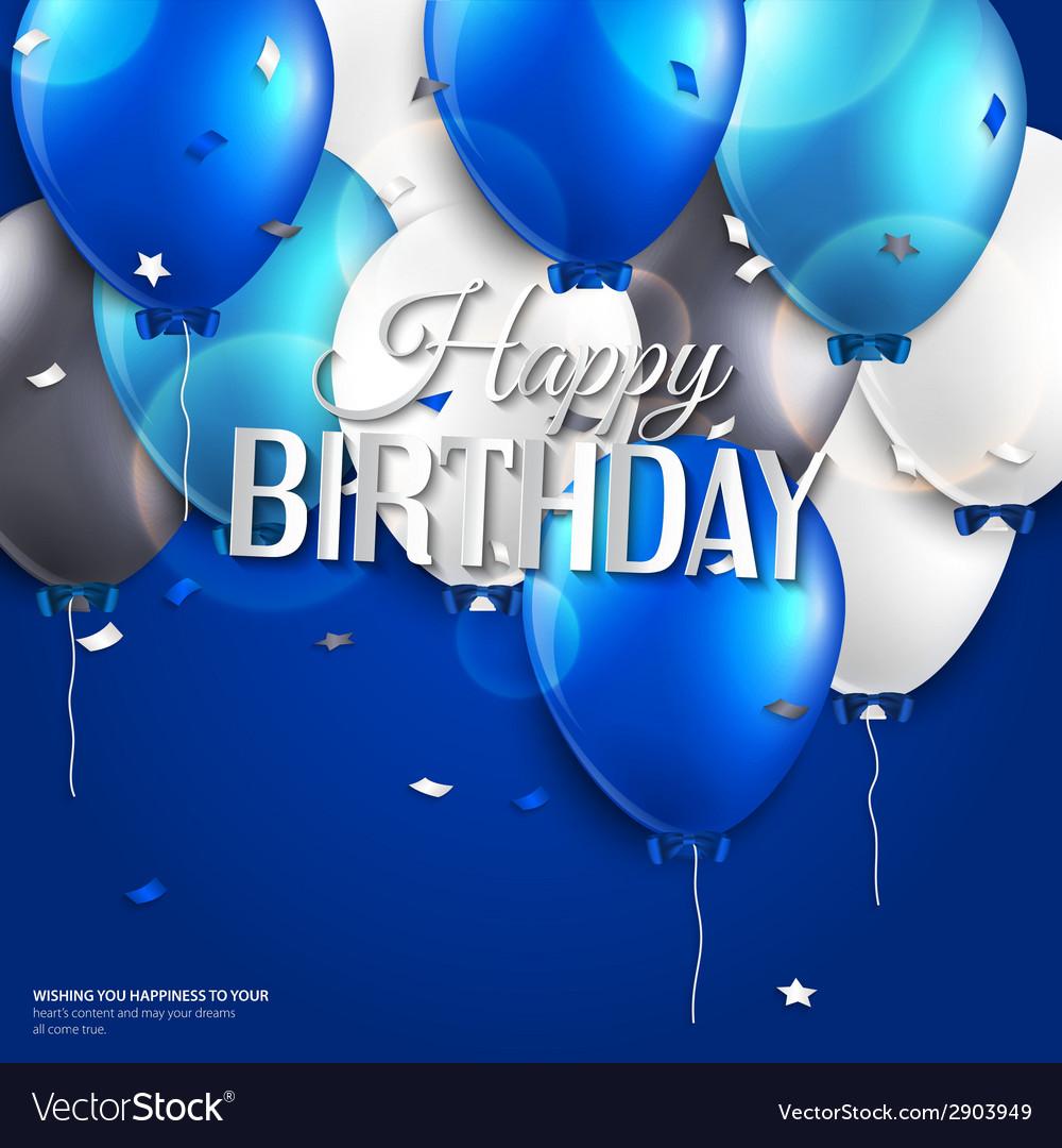 Открытки с днем рождения в голубом тоне