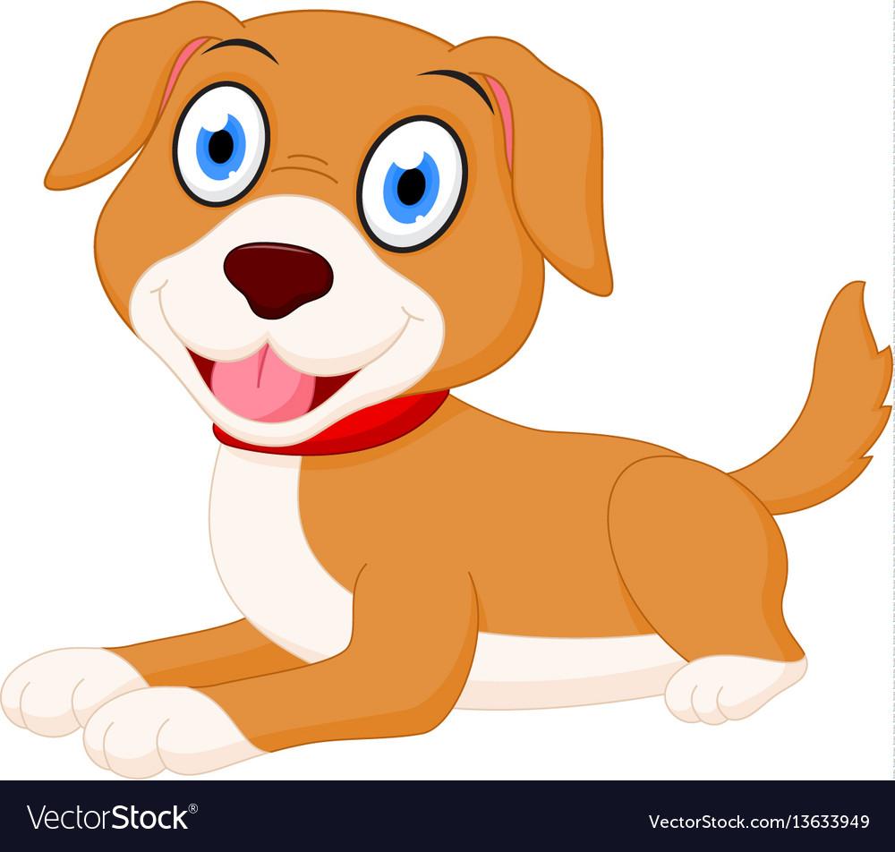 Cute Dog Cartoon Royalty Free Vector Image Vectorstock