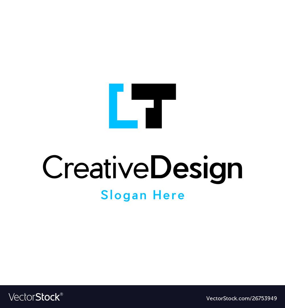 Letter t focus media pixel logo