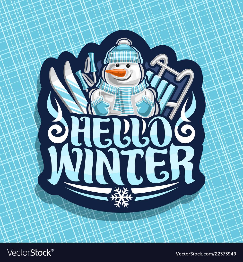 Logo for winter holidays