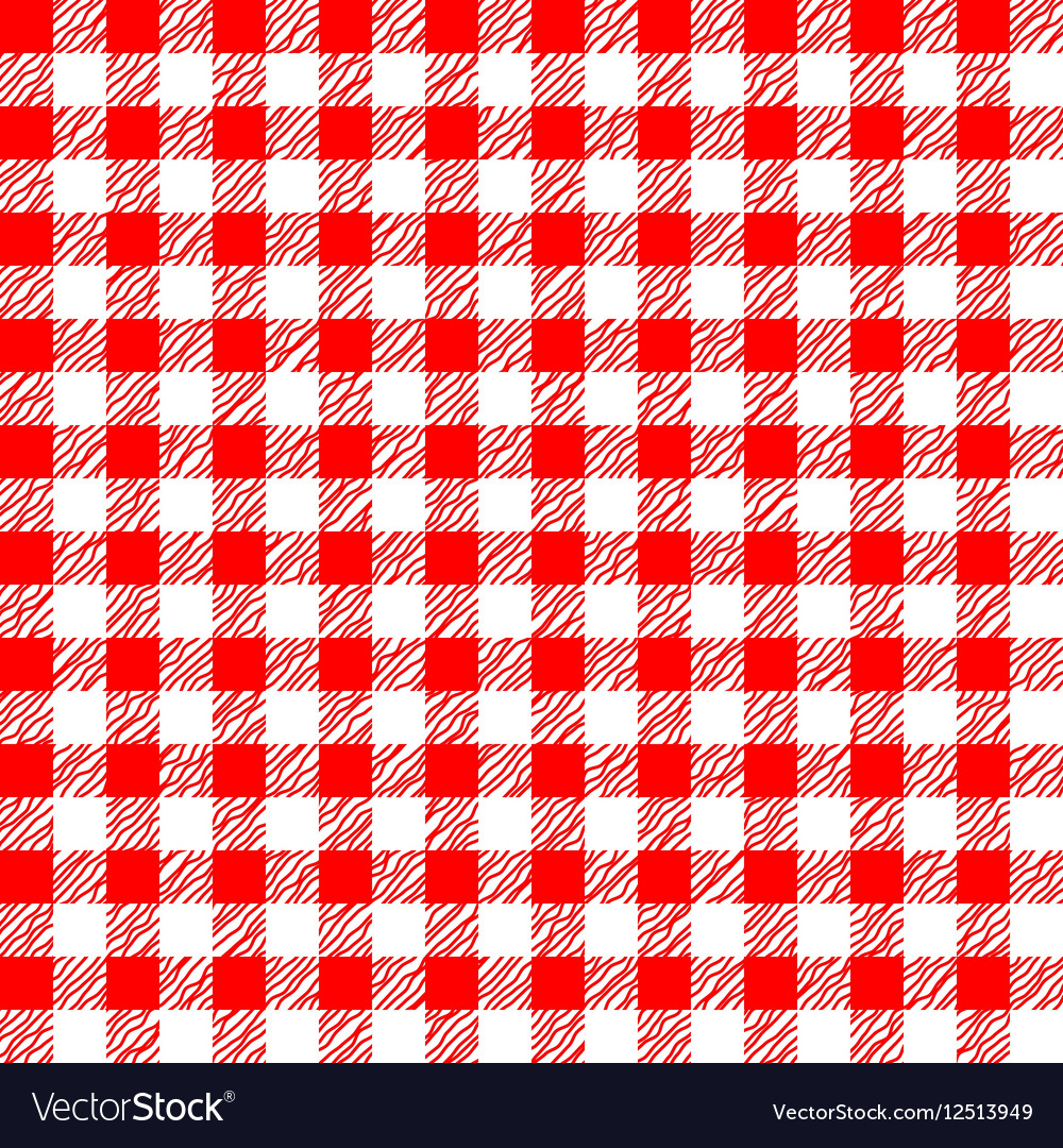 Red And White Tablecloth Seamless Pattern Vector Image