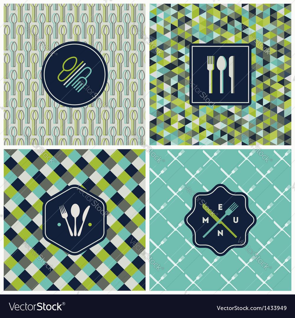 Restaurant menu seamless backgrounds