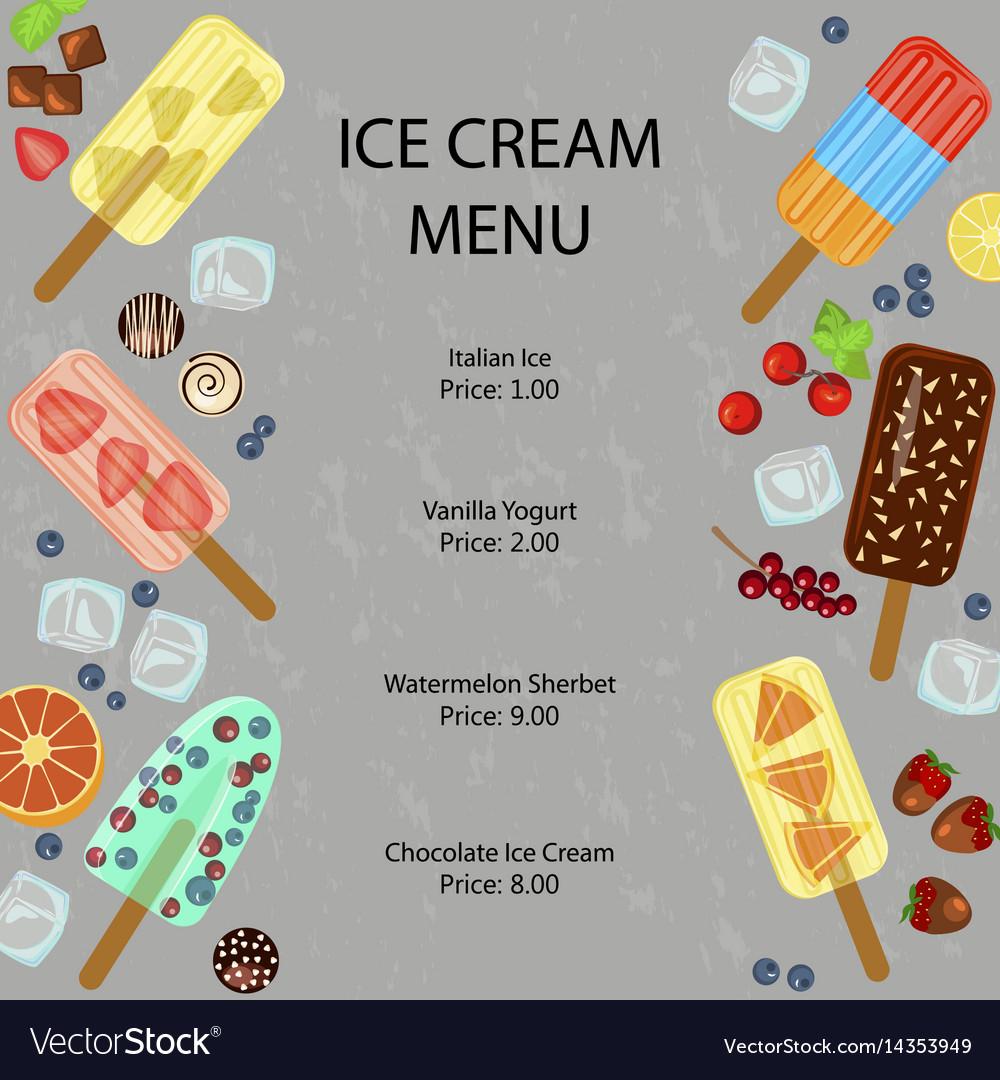 restaurant menu template royalty free vector image