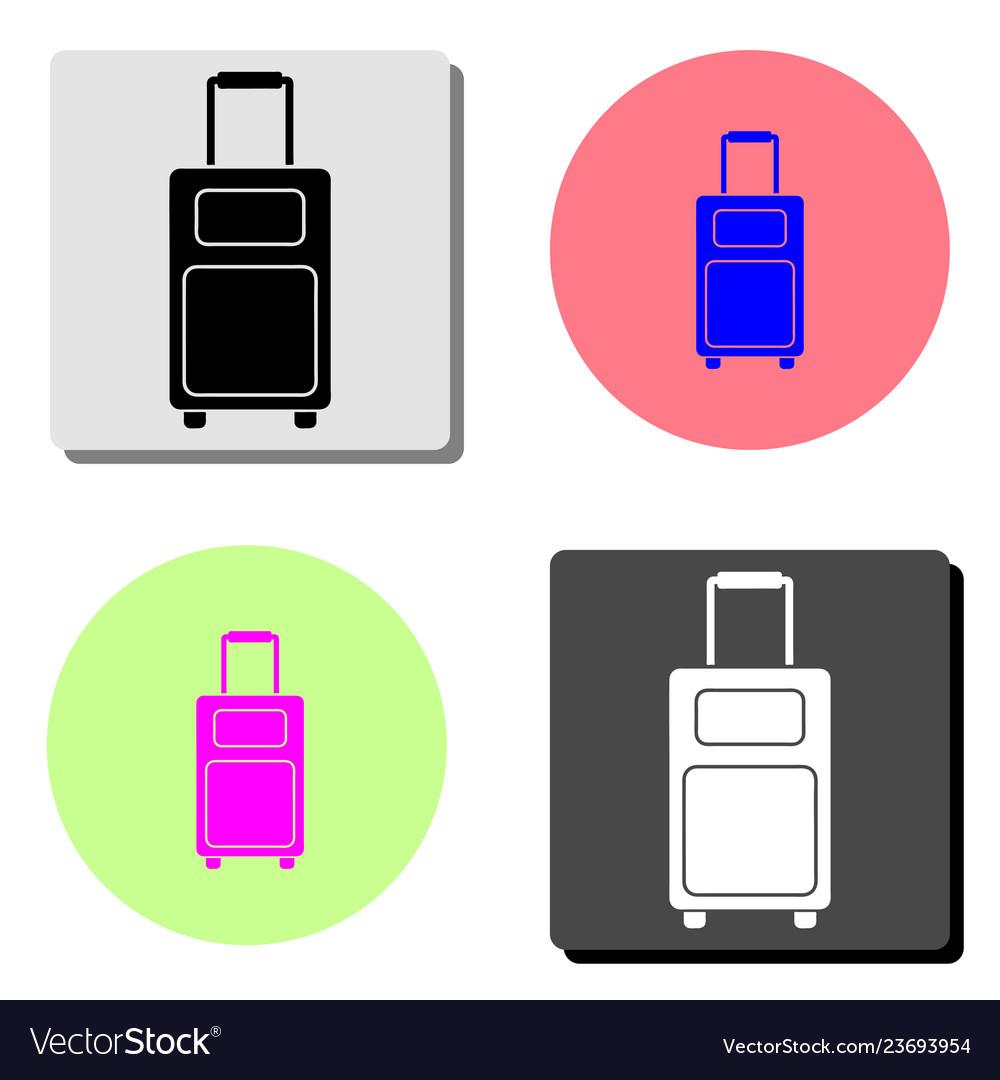 Bag of travel flat icon