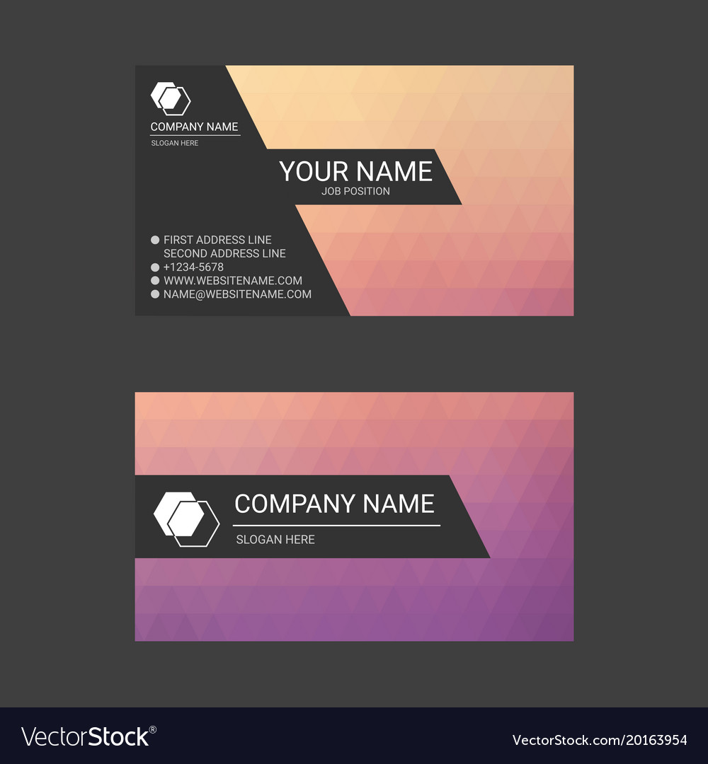 Colorful abstract business card templates vector image cheaphphosting Images