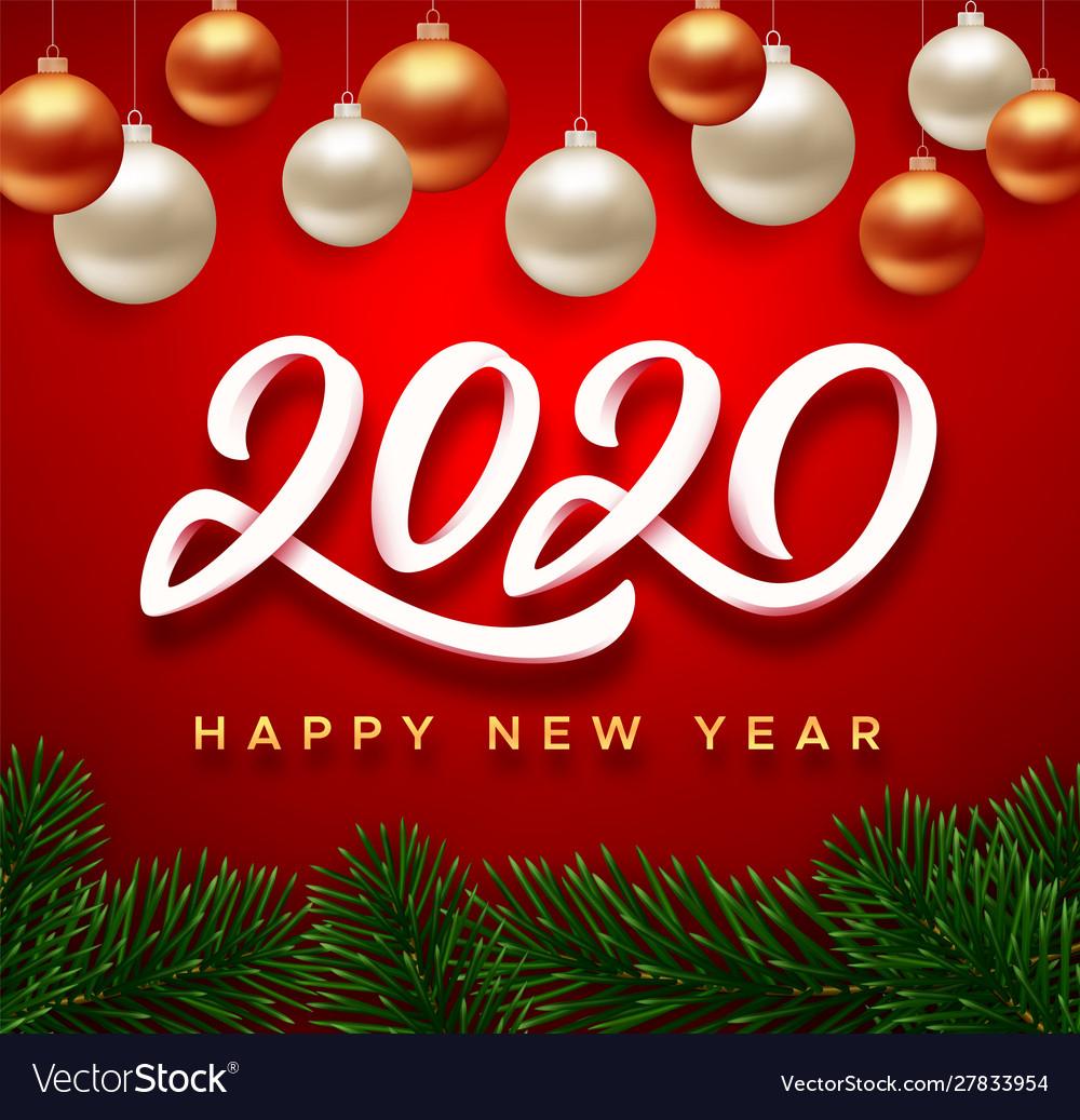 Happy new year 2020 background banner