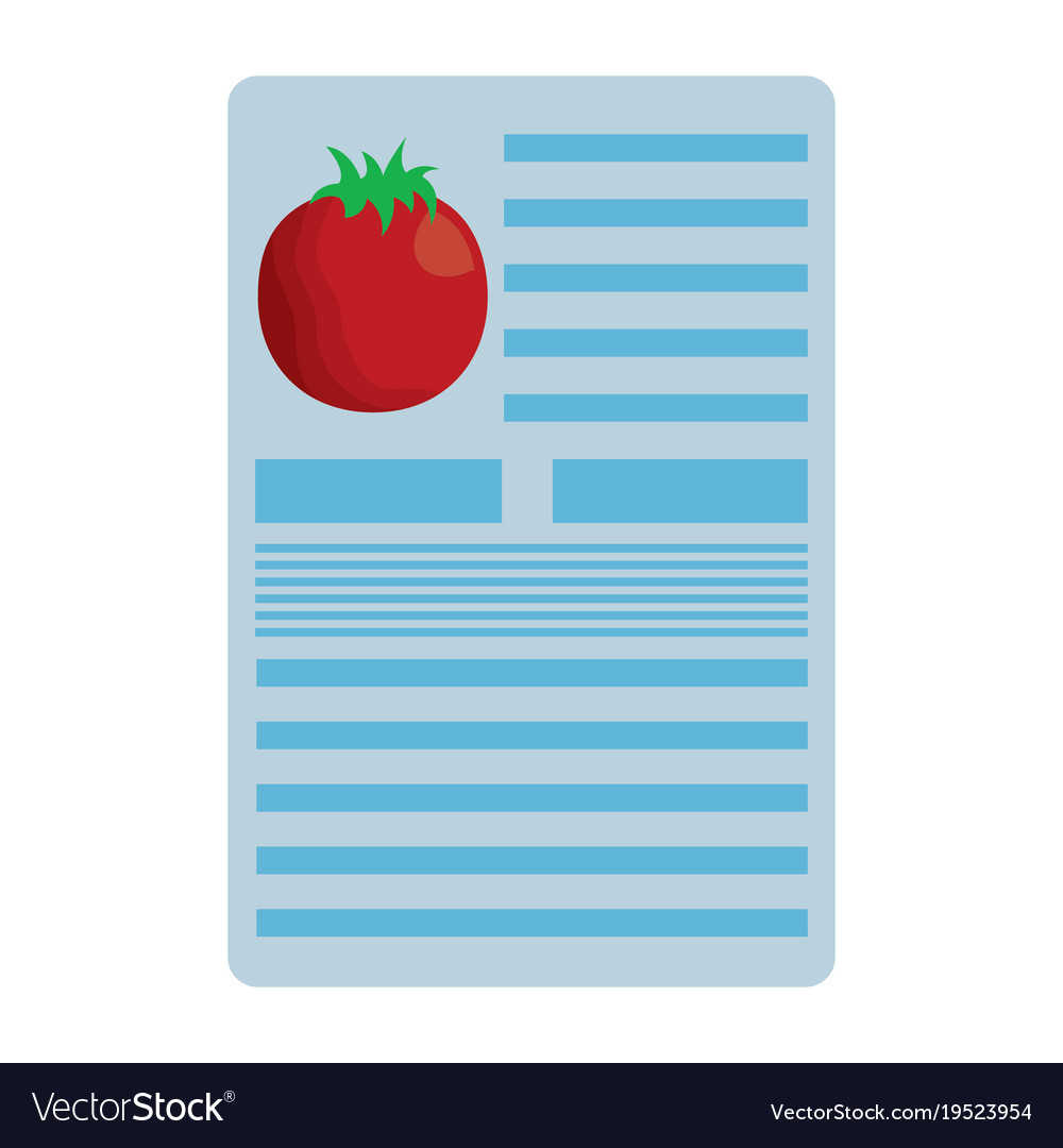 Tomato nutrition facts label template vector image on VectorStock