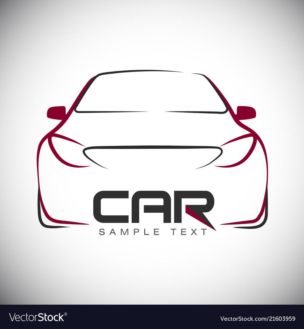 abstract car sport racing logo template royalty free vector