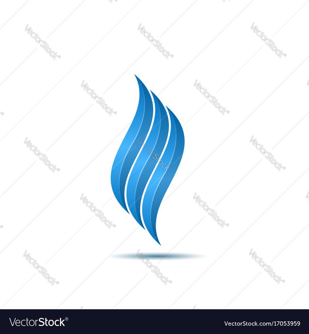 Blue fire symbol