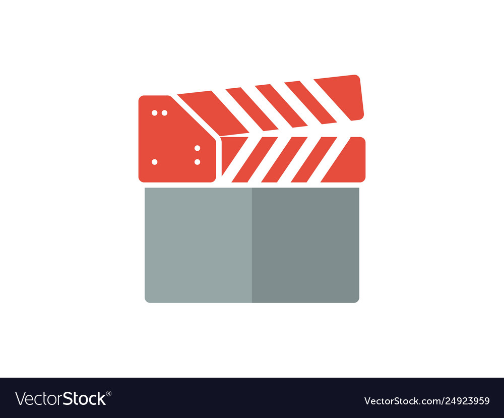 Clapperboard flat color icon