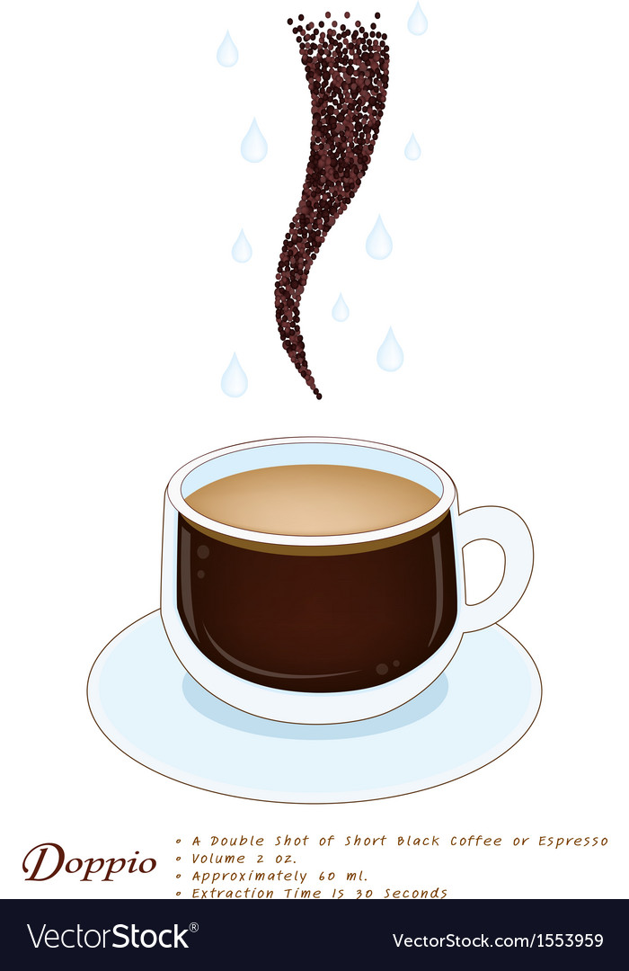 Doppio Coffee in A White Ceramic Cup