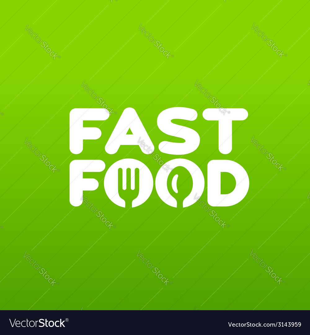 Fastfood word sign logo icon design template