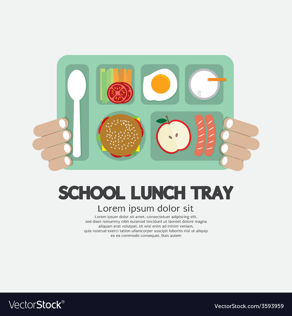 Hand Holding A School Lunch Tray