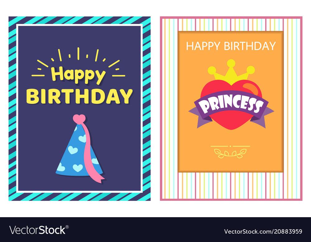 Happy birthday princess cards