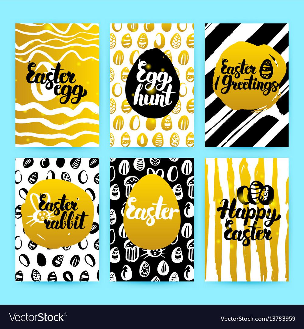 Happy easter gold trendy brochures
