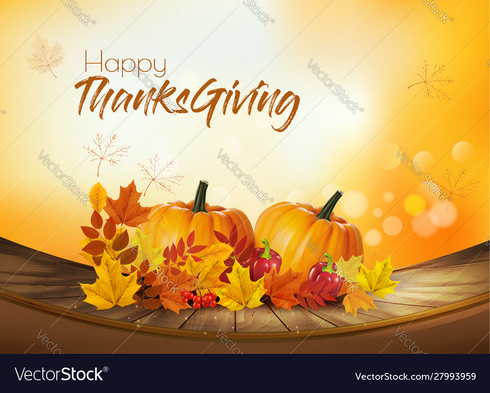 Happy thanksgiving holiday background with autumn