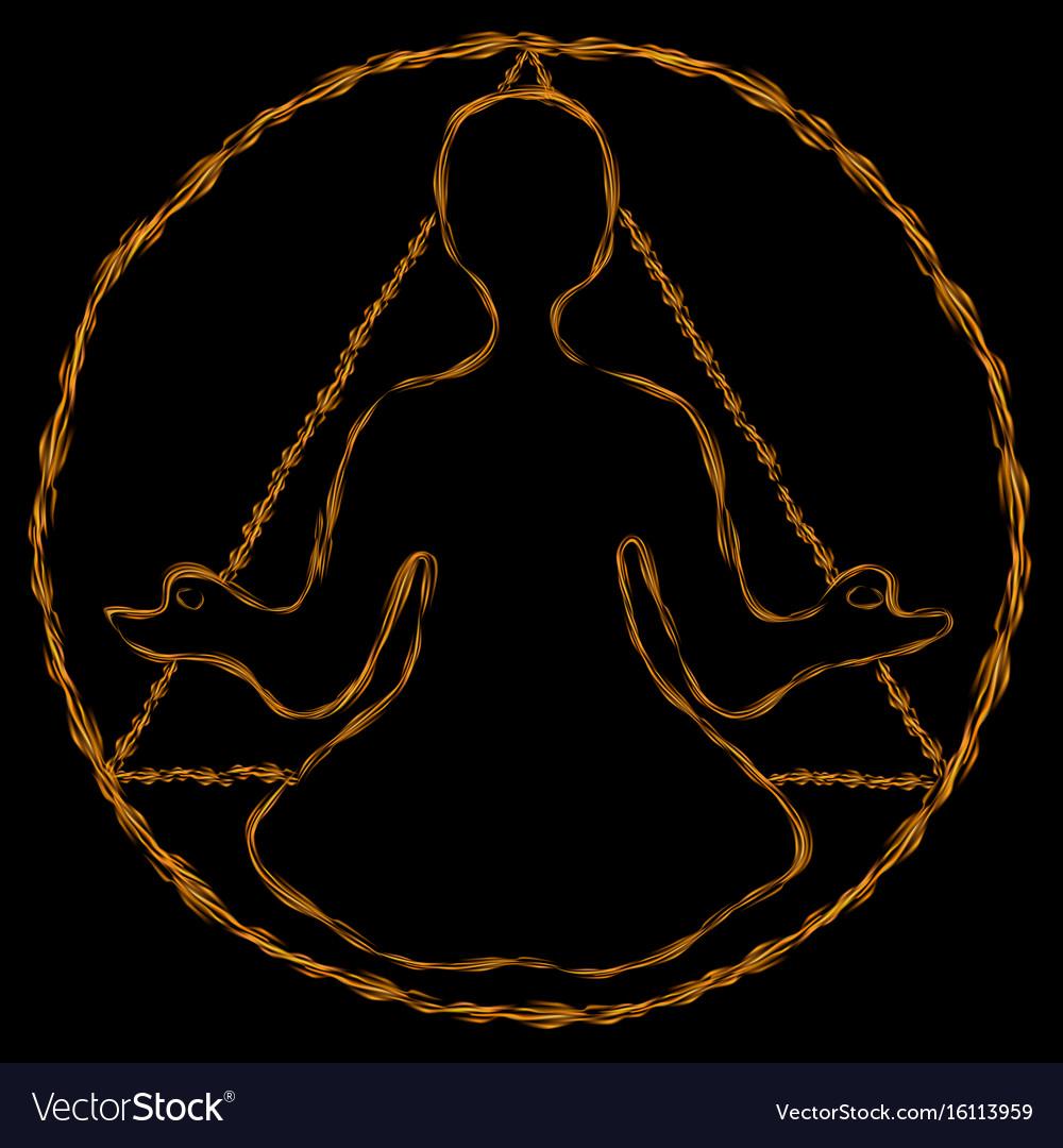 Meditation round-triangle aura