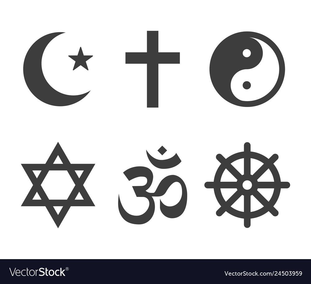 Religions icons set image