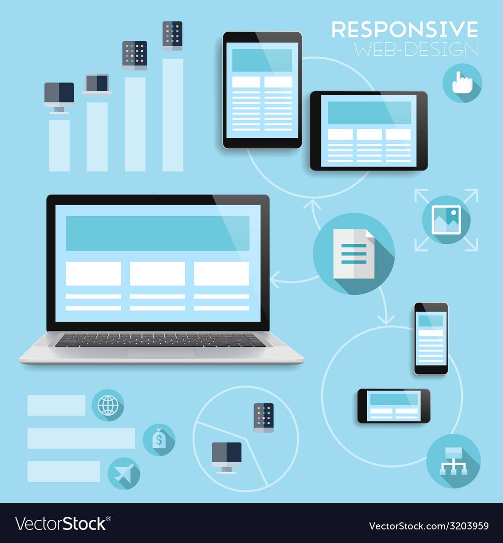 Responsive web-design infographics concept