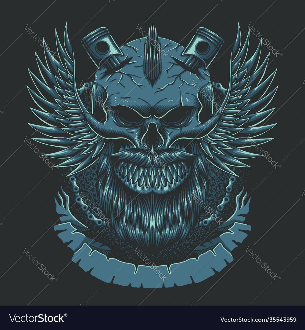Skull wing motorcycles club