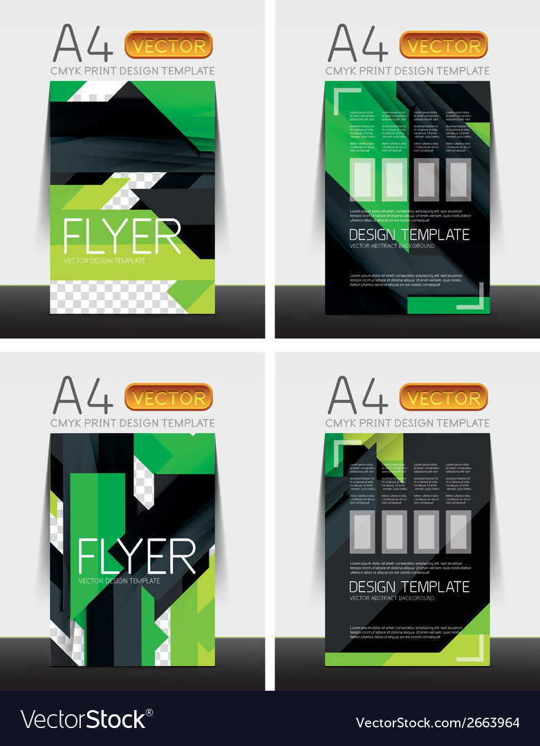 abstract flyer brochure templates set royalty free vector