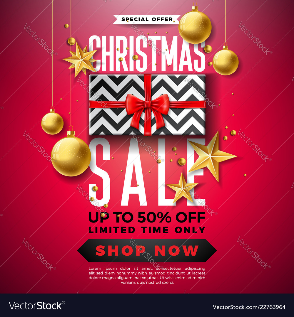 Christmas sale design with ornamental ball and