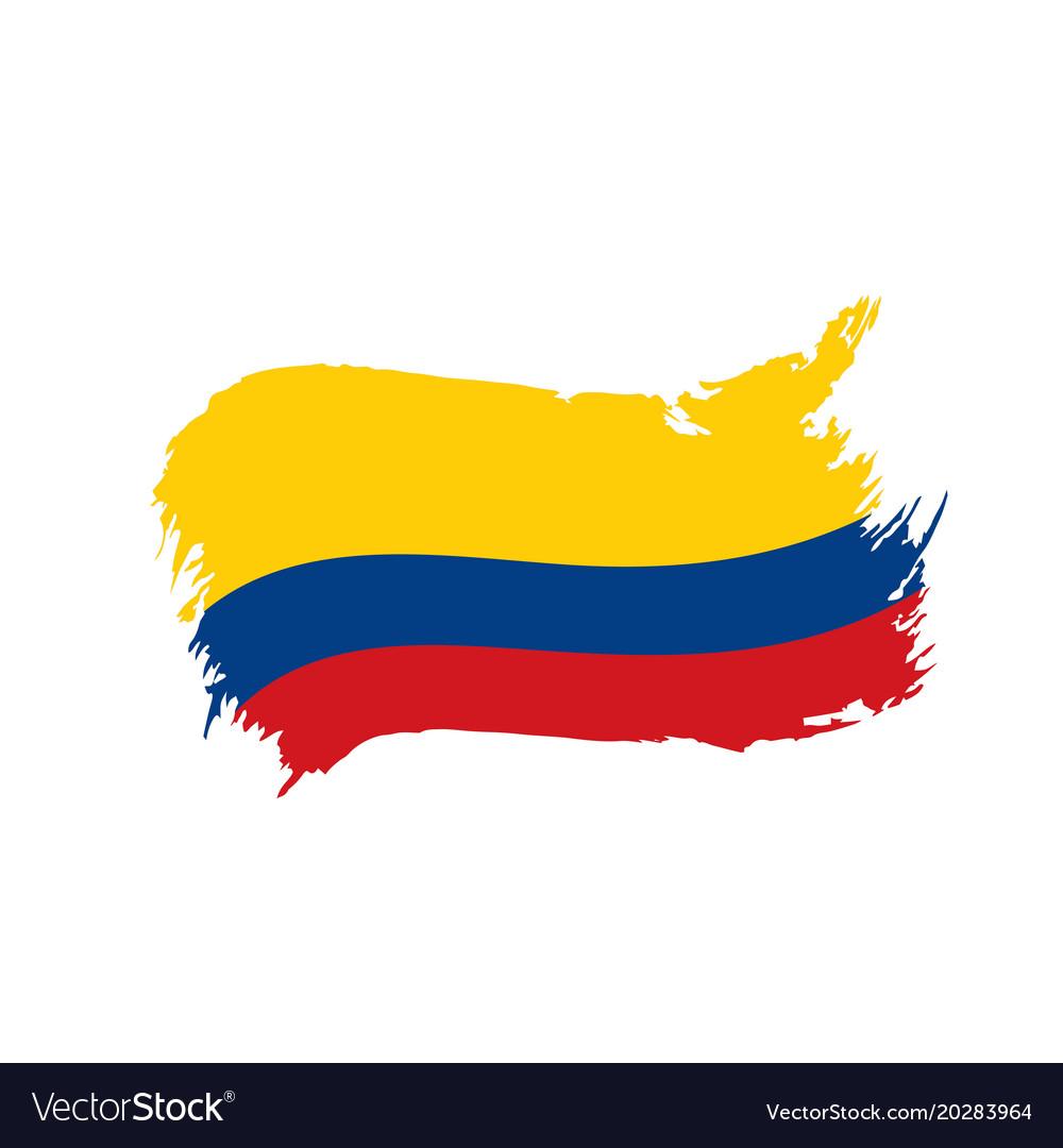 colombia flag royalty free vector image vectorstock