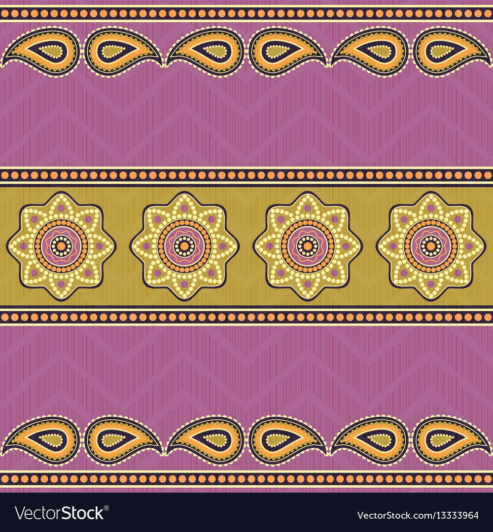 Ethnic textile pattern vector image
