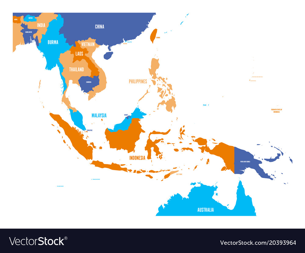 Map Of Asia Vector.Map Of Southeast Asia