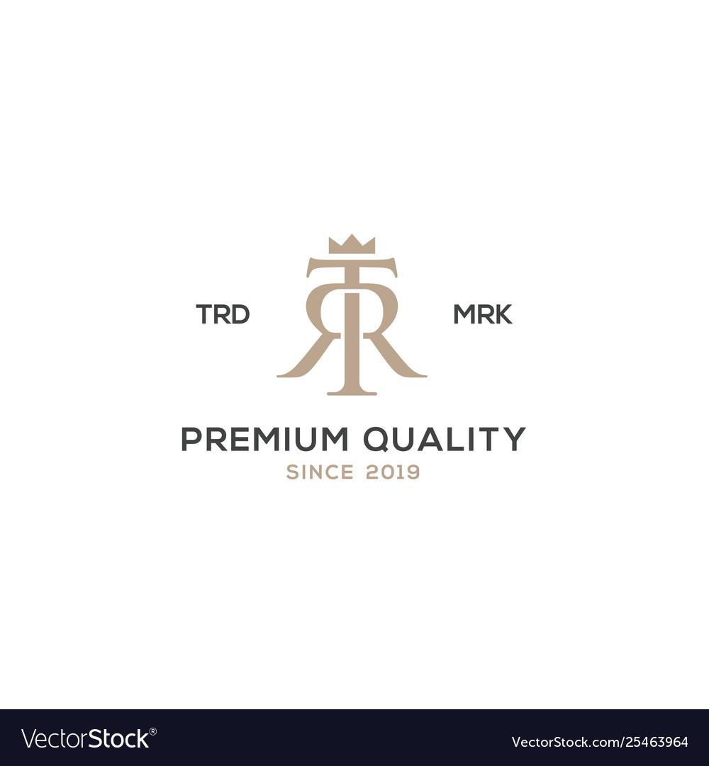 Monogram tr rt logo design inspiration