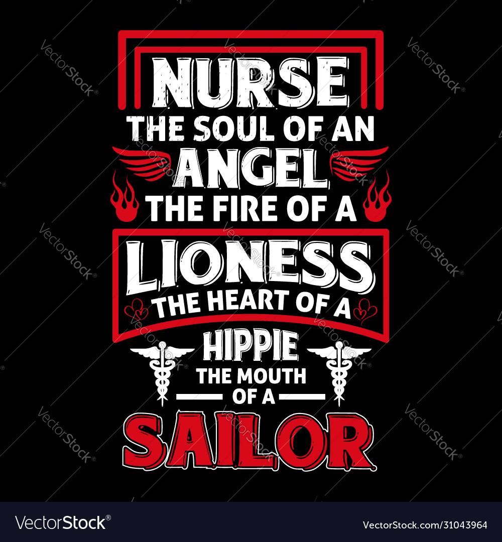 Nurse quotes typographic design