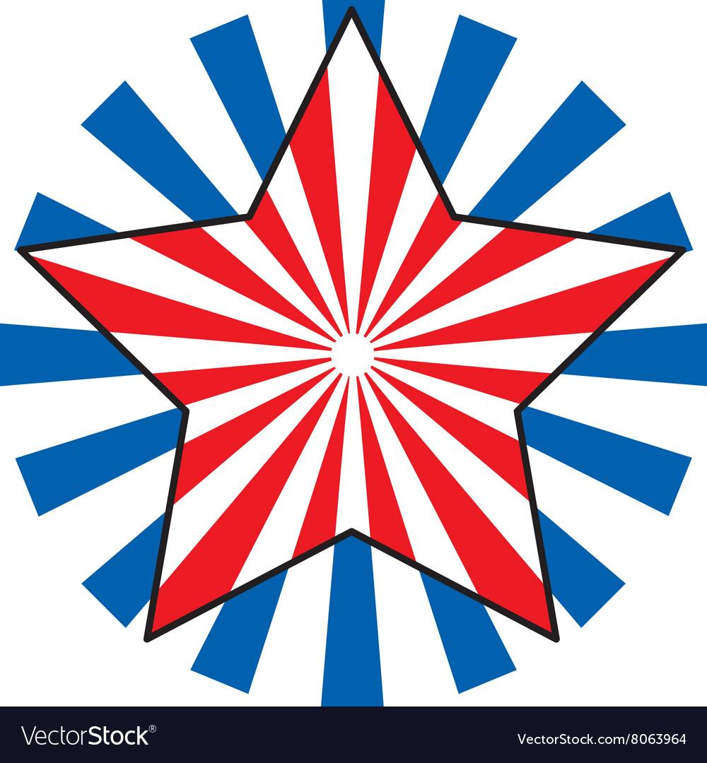 patriotic star royalty free vector image vectorstock