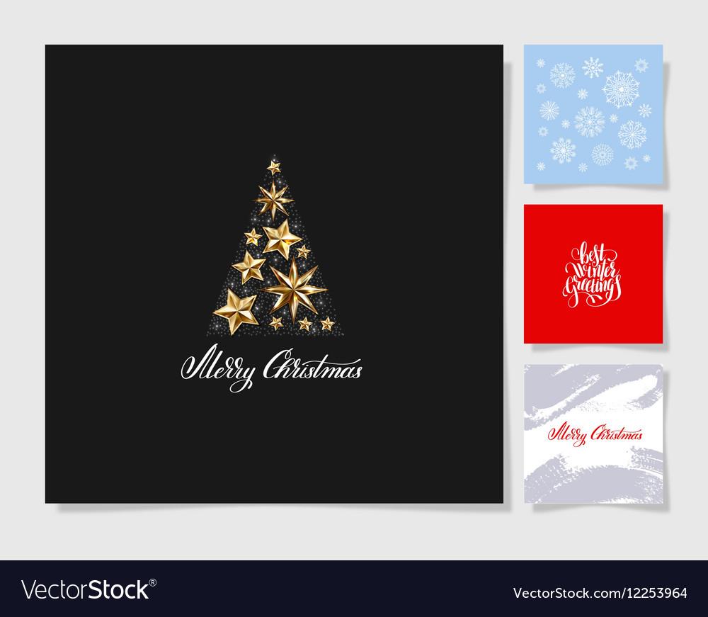 Set of christmas tree decoration background